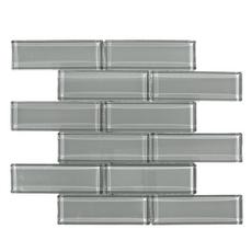 Pure Shadow Brick Glass Mosaic
