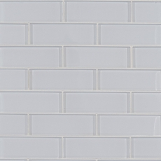 Pure Snow Brick Glass Mosaic