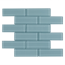 Pure Spa Blue Brick Glass Mosaic