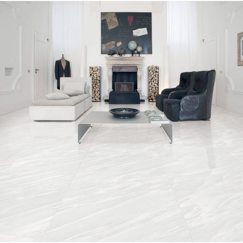 Cyrus White Polished Porcelain Tile 32 X 32 100147628 Floor