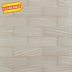 Clearance! Artistry Cream Brick Glass Mosaic