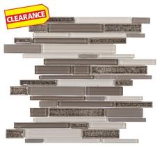 Clearance! Riva Lake II Linear Glass Mosaic