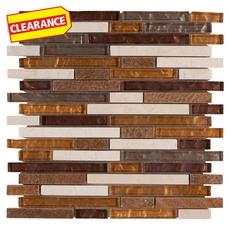 Clearance! Montevideo II Stick Glass Mosaic