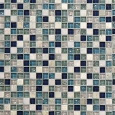 Blue Ocean Mix II Glass Mosaic