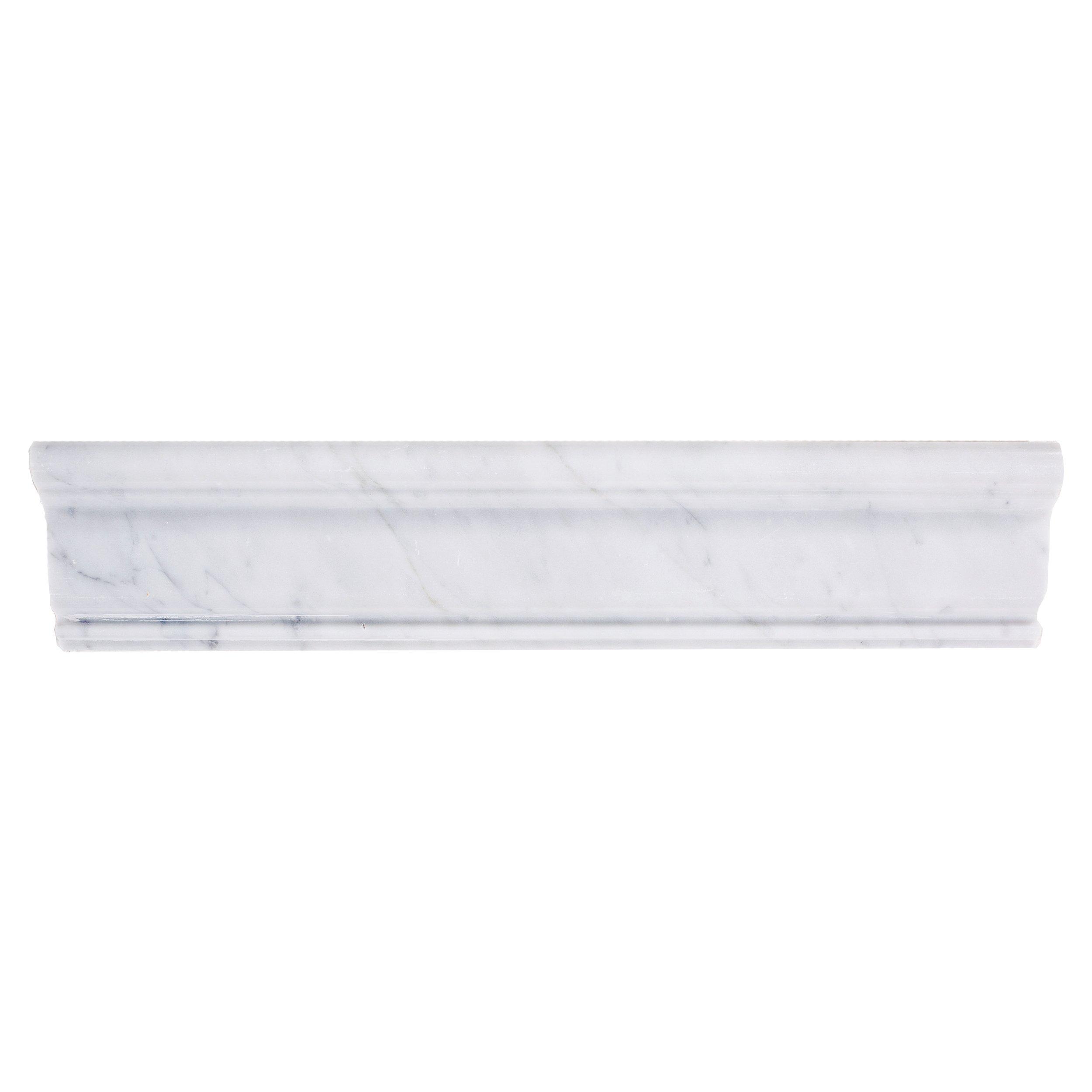 Bianco Carrara Marble Chair Rail   2 5/8 X 12   100156256 | Floor And Decor