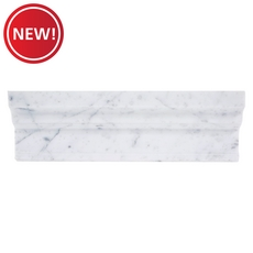 New! Bianco Carrara Marble Crown Molding