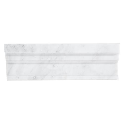 Carrara White Marble Crown Molding - 4 x 12 - 100156421 | Floor and