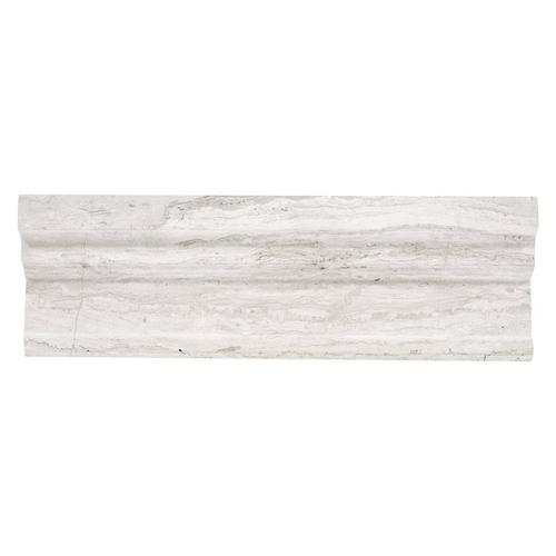 Valentino White Marble Crown Molding - 4in. x 12in. - 100156470 | Floor and  Decor