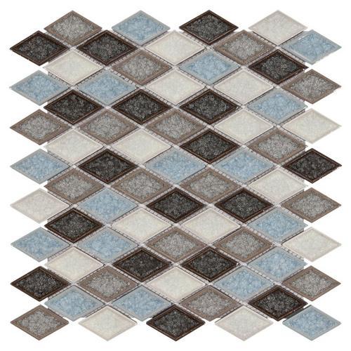 Exeter Diamond Glass Mosaic Sample - 12 x 12 - 100169291   Floor and ...