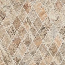 Silver Vein Cut Diamond Travertine Mosaic