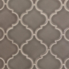 Villa Heirloom Pewter Arabesque Porcelain Mosaic