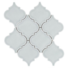 Villa Heirloom Aqua Arabesque Porcelain Mosaic