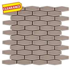 Clearance! Villa Heirloom Clay Elongated Hexagon Porcelain Mosaic