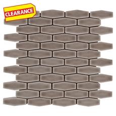 Clearance! Villa Heirloom Pewter Elongated Hexagon Porcelain Mosaic
