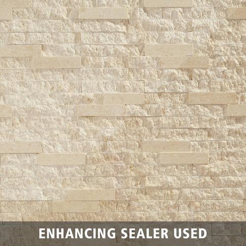 Aravalli Mix Splitface Marble Panel Ledger - 6 x 24 - 100188689