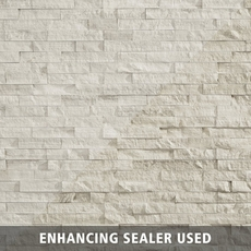 Valentino White Splitface Marble Panel Ledger