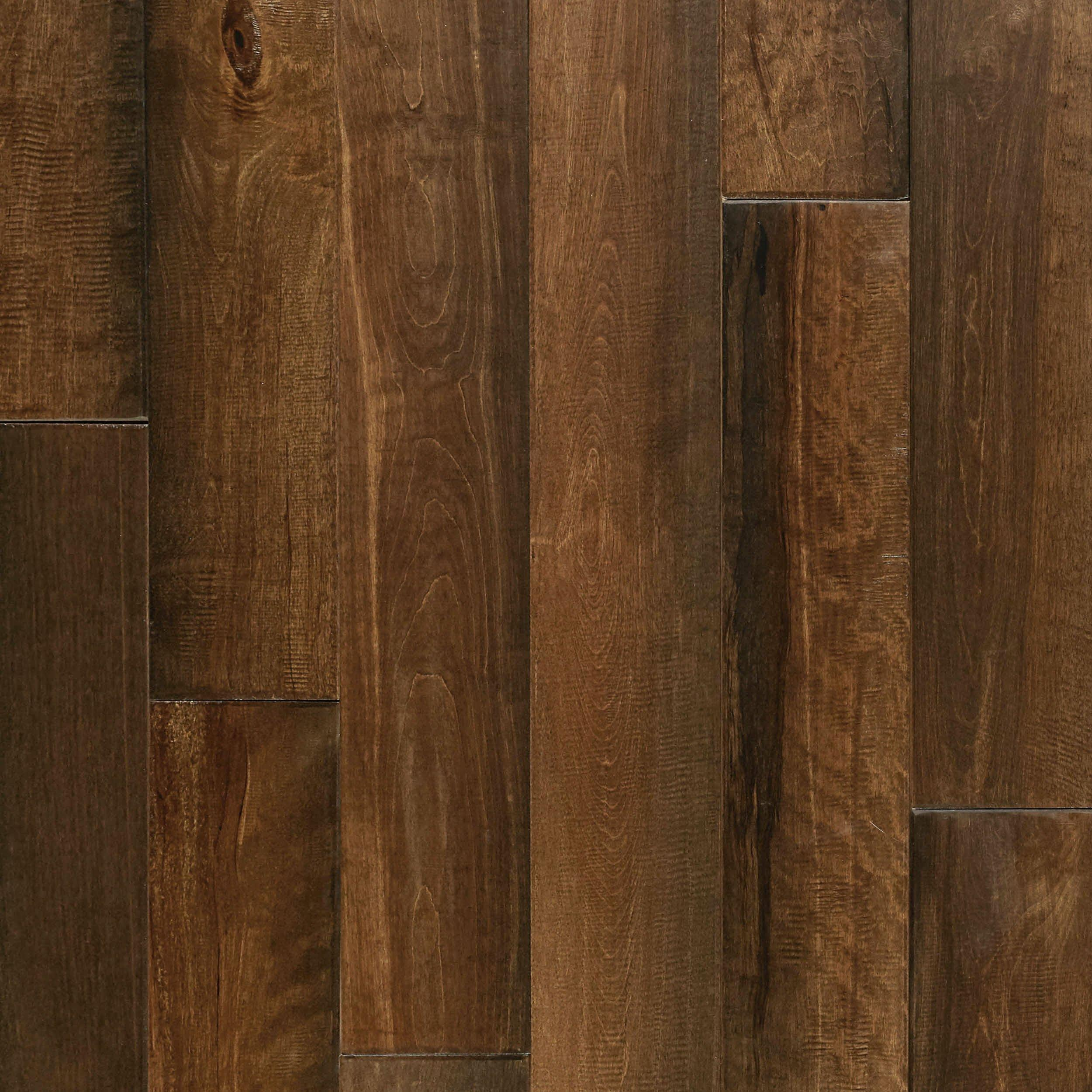 cyrus brown birch hand scraped wire brushed solid hardwood 34in x 4 34in floor and decor