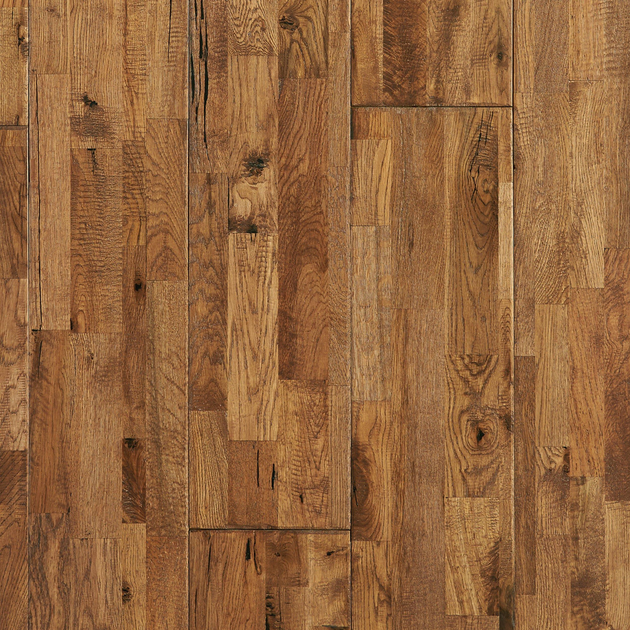 Heritage Oak Hand Scraped Wire Brushed Solid Hardwood 3 4in X