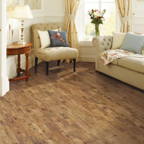 Heritage Oak Hand Scraped Wire Brushed Solid Hardwood 34in X 8in