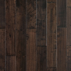 Hevea Brown Hand Scraped Solid Hardwood