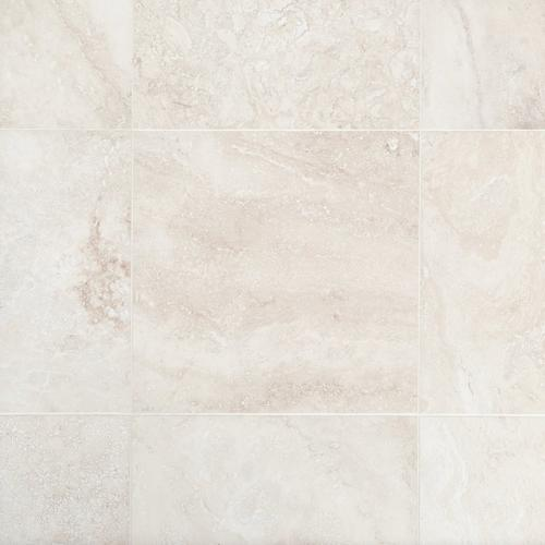 Cascade White Premium Honed Travertine Tile 18 X 18 100189547