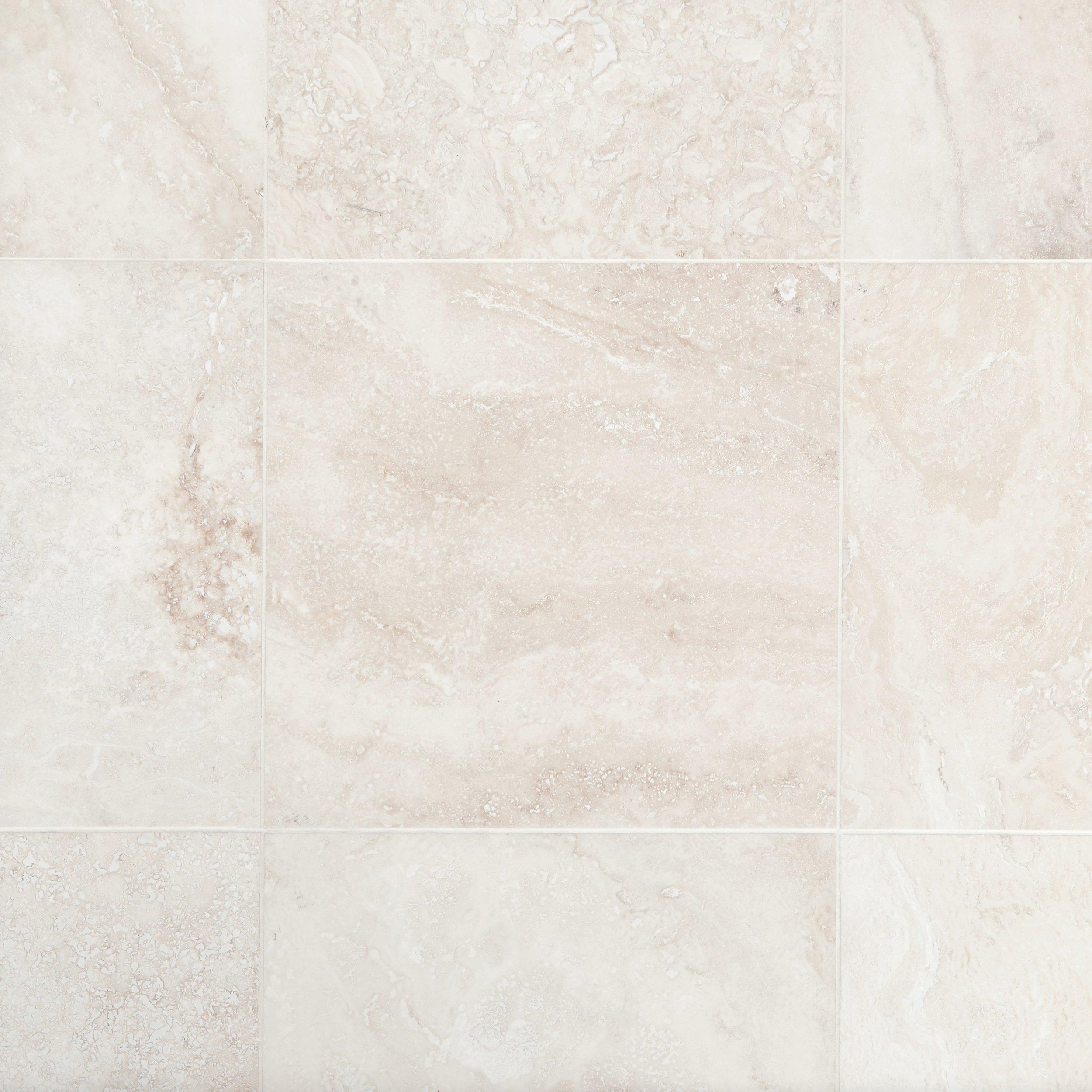 Cascade White Premium Honed Travertine Tile   18 X 18   100189547 | Floor  And Decor