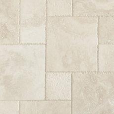 Cascade White Premium Brushed Travertine Tile