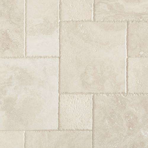 Cascade White Premium Brushed Travertine Tile X - 24 inch travertine tiles