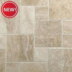 New! Cascade Cream Brushed Travertine Tile