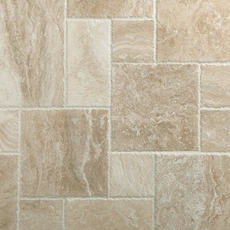 Cascade Cream Brushed Travertine Tile