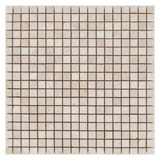 Tumbled Beige Travertine Mosaic