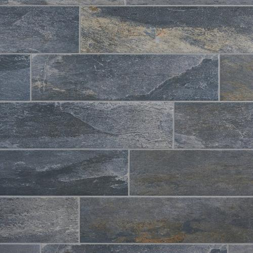 Meridian Slate Gray Porcelain Tile 6 X 24 100190156 Floor And