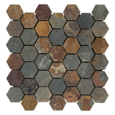 Multicolor Hexagon Slate Mosaic