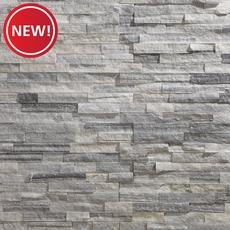 New! Devon Gray Splitface Quartzite Panel Ledger