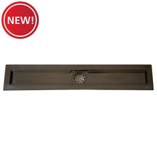 New! Compotite 24in. Linear Drain Body Black ABS Linear Shower Drain