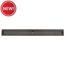 New! Compotite 42in. Linear Drain Body Black ABS Linear Shower Drain