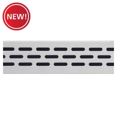 New! Compotite 24in. Oval Design Stainless Steel Grate
