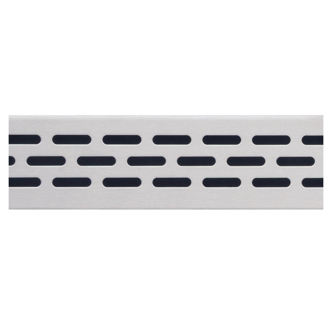 Compotite 24in Oval Design Stainless Steel Linear Drain Grate
