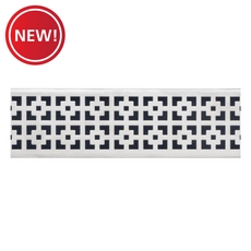 New! Compotite 24in. Mission Design Stainless Steel Grate