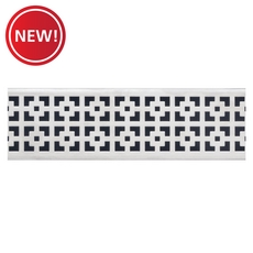 New! Compotite 32in. Mission Design Stainless Steel Grate