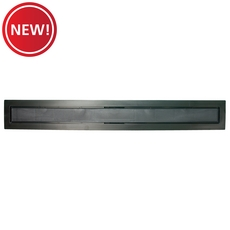 New! Compotite 24in. Tile-in Top Black ABS Cover Plate
