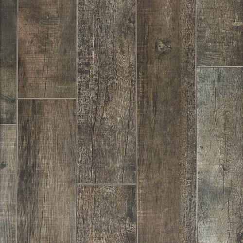 Frontier Dark Wood Plank Porcelain Tile X Floor - Dark brown tile that looks like wood