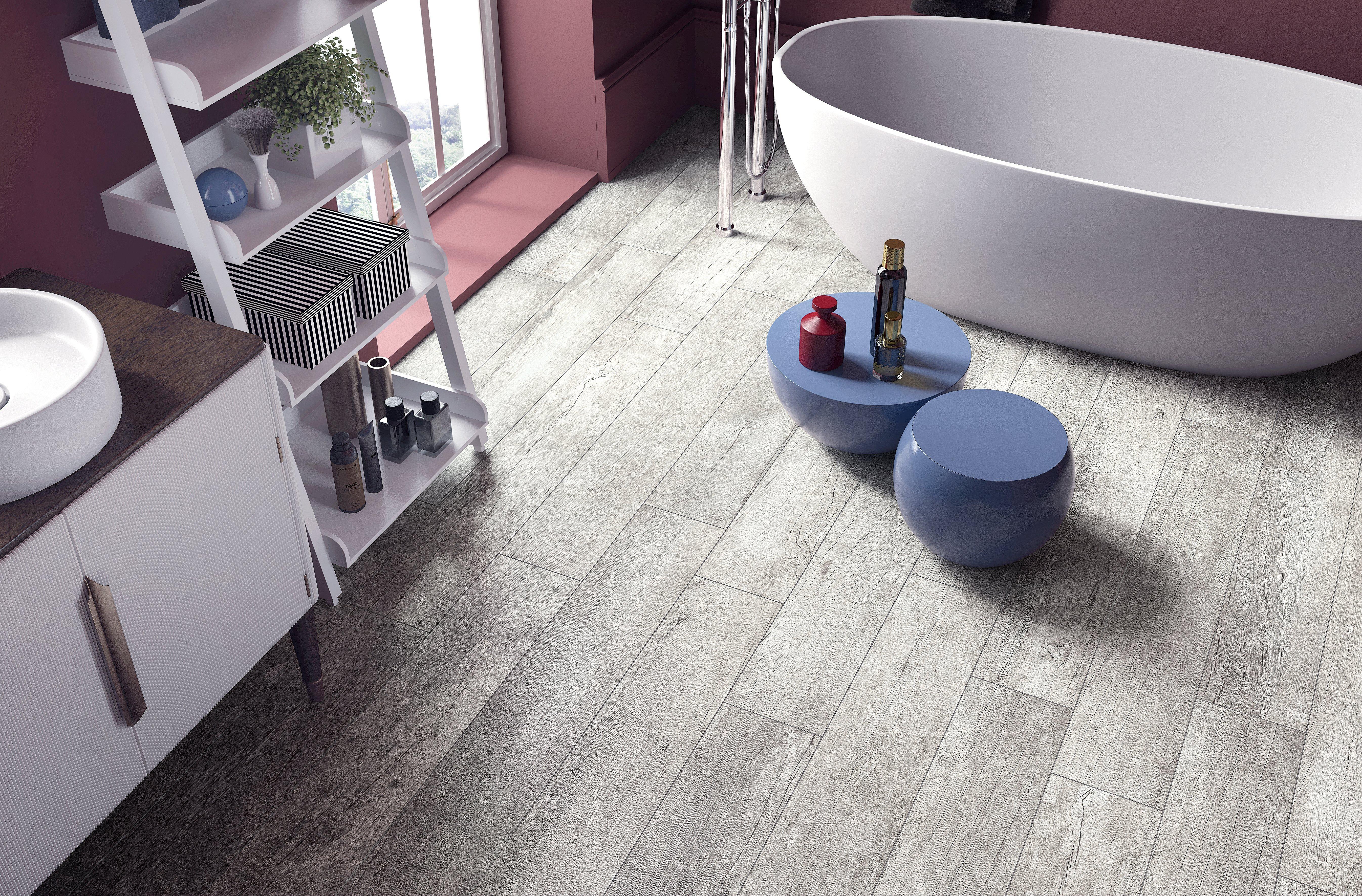 Light Wood Tile Flooring. Subway Tile Floor Bathroom Traditional ...