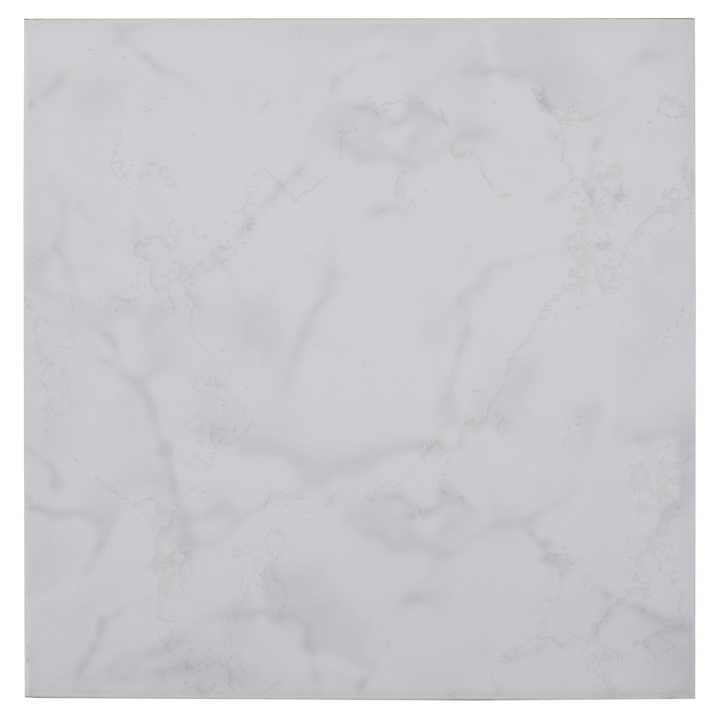 Crystal White Ceramic Tile 12in x 12in 100205400 Floor and