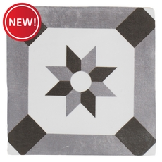 New! Barcelona White and Black Ceramic Tile