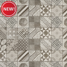 New! Castel Patchwork Gray Porcelain Tile