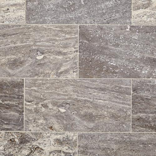 Aqua Silver Vein Cut Travertine Tile 12 X 24 100213099 Floor