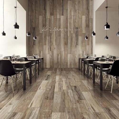 ... Wood Plank Ceramic Tile. Click to zoom - New Kent Gray Wood Plank Ceramic Tile - 8in. X 40in. - 100213156