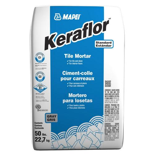 Mapei Keraflor Gray Floor Tile Thin Set Mortar 50 Lbs 100215334