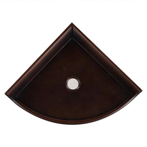 Oil Rubbed Bronze Decorative Corner Shelf 1 X 8 100215342